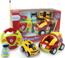 Load image into Gallery viewer, Enuotrip RC Cartoon Race Car with Music Button and LED Headlights  Great Gift Racing Action Figure Radio Control Toy for Kids