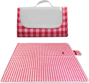 Wesan Outdoor Picnic Blanket Waterproof Portable Beach Mat for Camping Hiking Festivals(red)