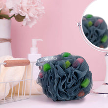 Load image into Gallery viewer, ifox Bath Loofahs 2 Shower Sponge Balls with Easy Foaming Sponge grains, Mesh Body Scrubber Exfoliator