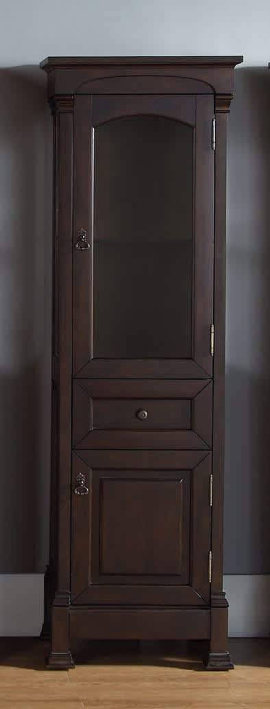 Brookfield Linen Cabinet in Burnished Mahogany