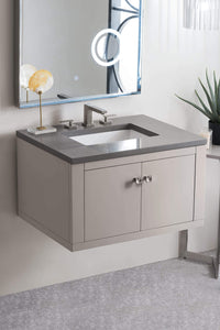 "Silverlake 30"" Single Vanity, Mountain Mist with Grey Expo Quartz Top with Sink"