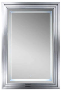 "Escalante 32"" Mirror in Plated Nickel"