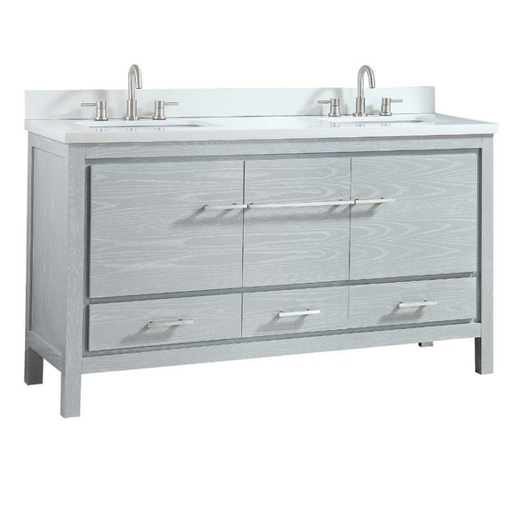 Riley 61 in. Vanity Sea Salt Gray
