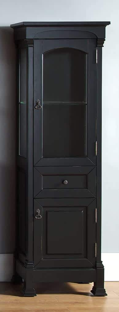 Brookfield Linen Cabinet in Antique Black