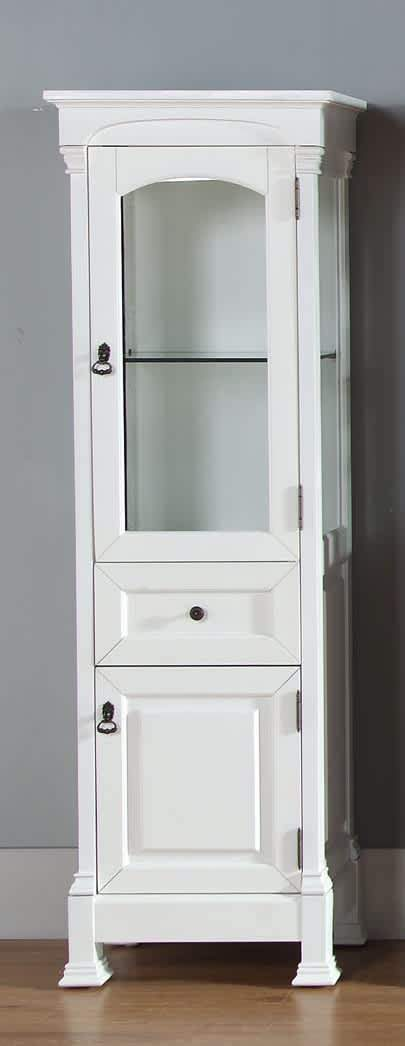 Brookfield Linen Cabinet in Cottage White