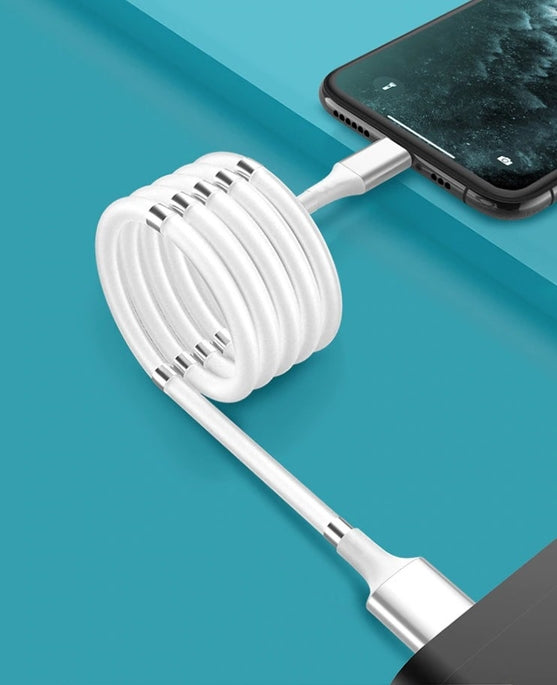 Super Coiled Magnetic Charging Cable