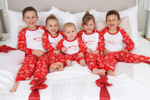 Christmas Personalised Snowflake Pyjamas