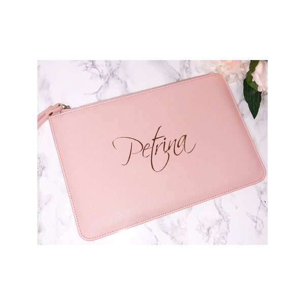 Leather Look Clutch Bag