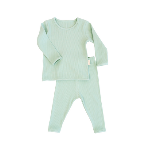 Personalised Mint Green Ribbed Loungewear