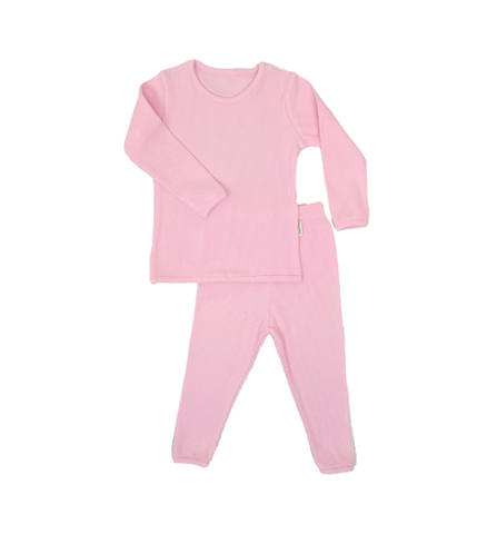 Personalised Baby Pink Ribbed Loungewear
