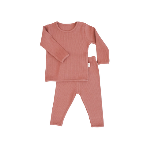 Personalised Dusky Rose Ribbed Loungewear