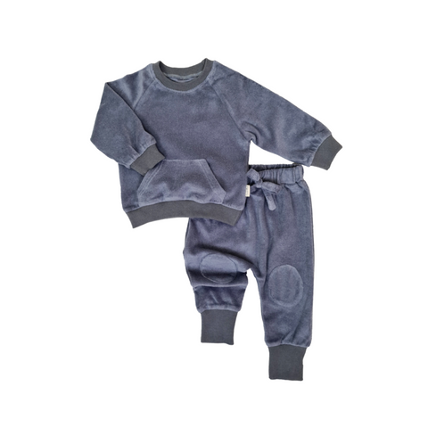 STORM BLUE TOWELLING COTTON TRACKSUIT UNISEX