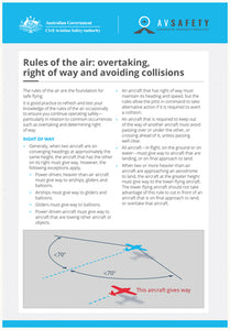 A5 Card - Rules of the air: overtaking, right of way and avoiding collisions