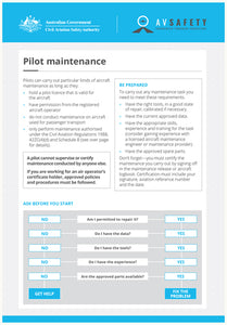 A5 Card - Pilot maintenance areas