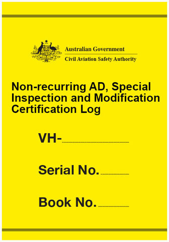 Non-recurring AD, special inspection and modification certification log - CAS902