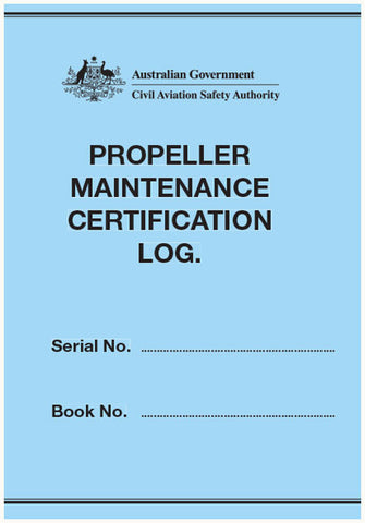 Propeller maintenance certification log - CAS905