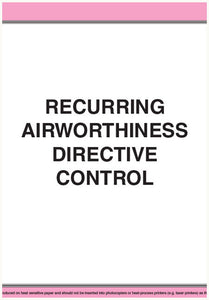 Recurring airworthiness directive control