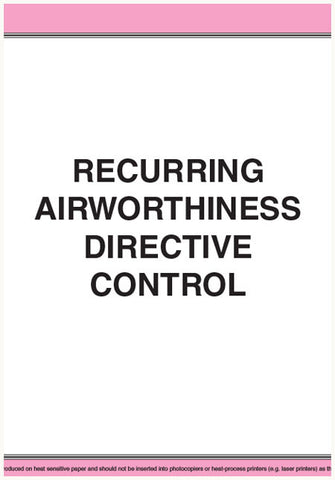 CAS927 - Recurring airworthiness directive control