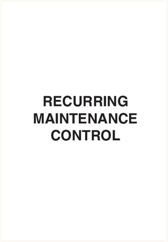 CAS928 - Recurring maintenance control