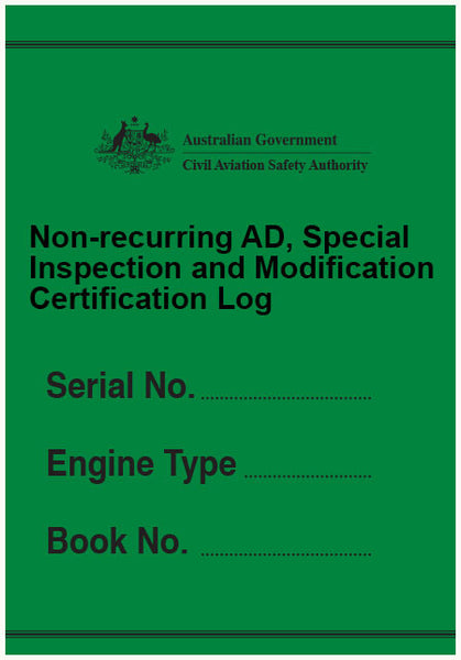 Non-recurring AD, special inspection and modification certification log