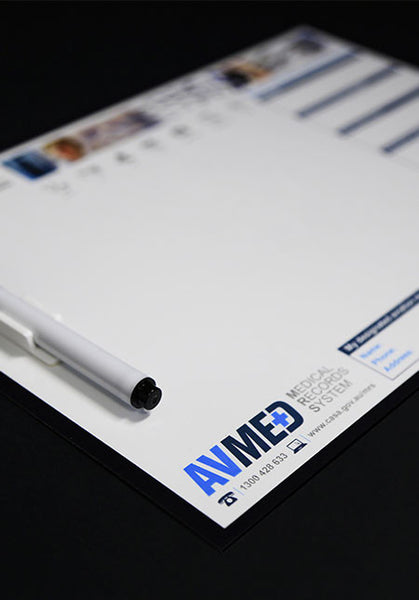Medical Records System whiteboard