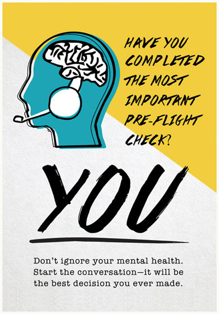 Pilot wellbeing poster