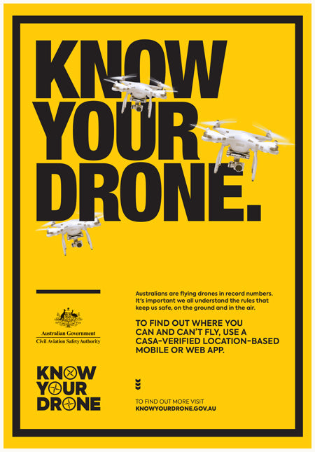 Know your drone poster - Find out where you can and can't fly