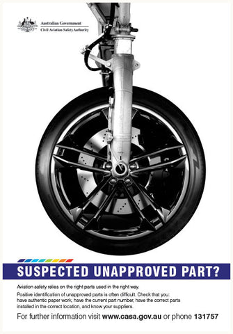 Maintenance poster - 'Suspected unapproved part?' - SP122
