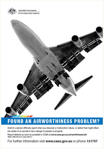 Maintenance poster - 'Found an airworthiness problem?' - SP123