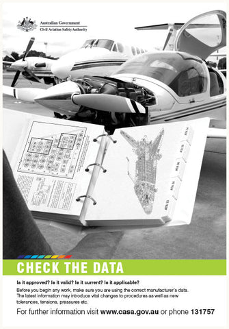 Maintenance poster - 'Check the data' - SP126