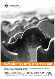 Maintenance poster - Don't make the graveyard shift a reality