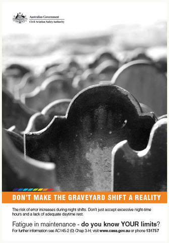 Maintenance poster - 'Don't make the graveyard shift a reality' - SP128