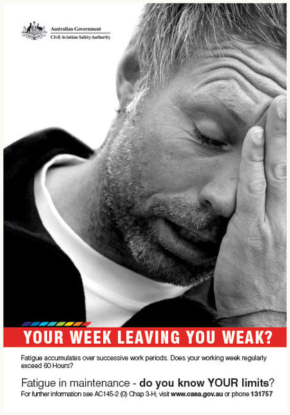 SP129 - Maintenance poster - 'Your week leaving you weak?'