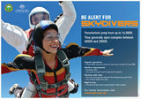 Be alert for skydivers poster
