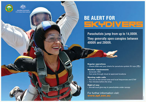 Be alert for skydivers - SP137