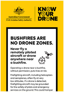 Know your drone - bushfire flyer