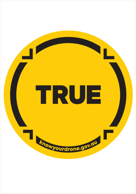 Know your drone - True sticker