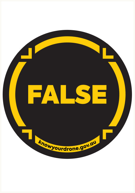Know your drone - False sticker