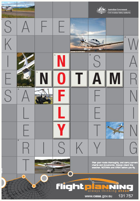 Flight planning poster - NOTAMS no fly