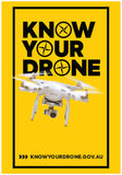 Know you drone - Safety rules card