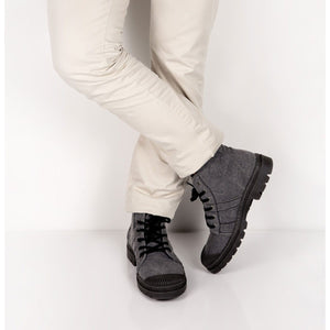 BOOTS HOMME AUTHENTIQUE RECYCLÉE H2F - ANTHRACITE