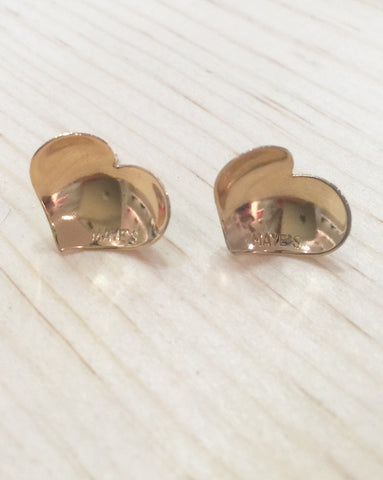 #001/064 Earrings Gold Heart