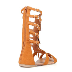 Fashion Fringe Beige Gladiator