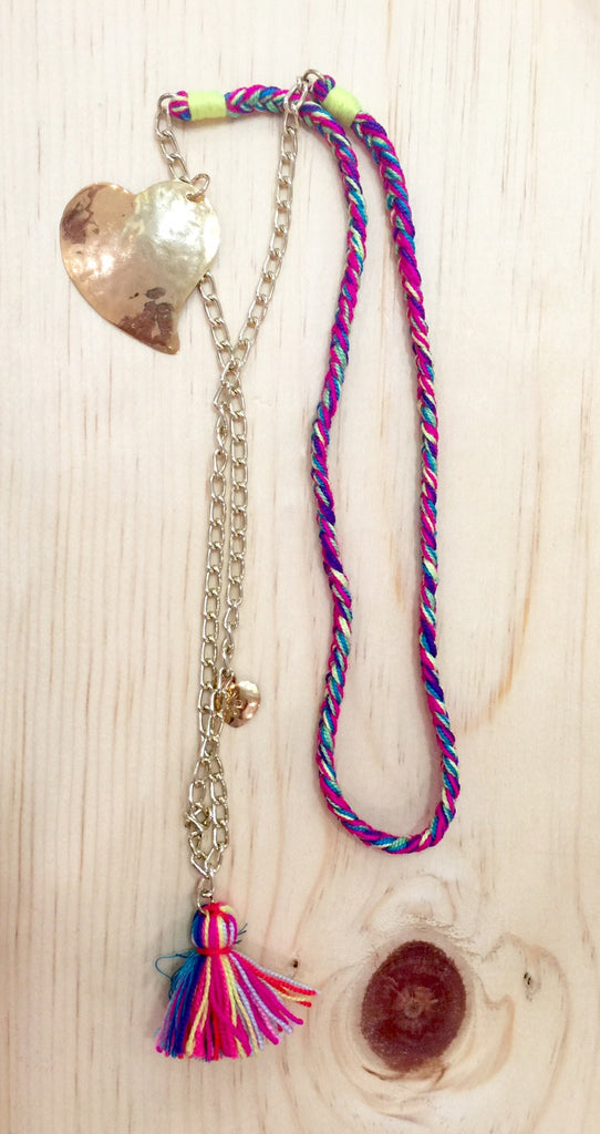 #008 Multi-Color Chain Necklace
