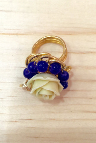 #075 Flowers Ring Multi-Color