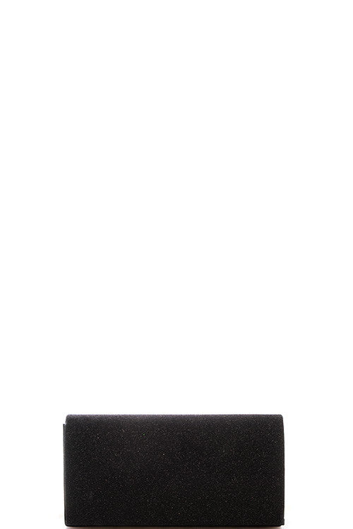 Fashion Black Sparkling Clutch