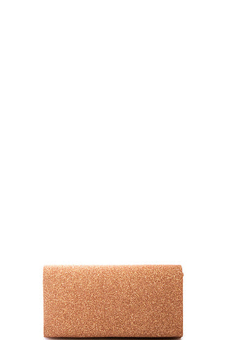 Fashion Rose Gold Sparkling Clutch