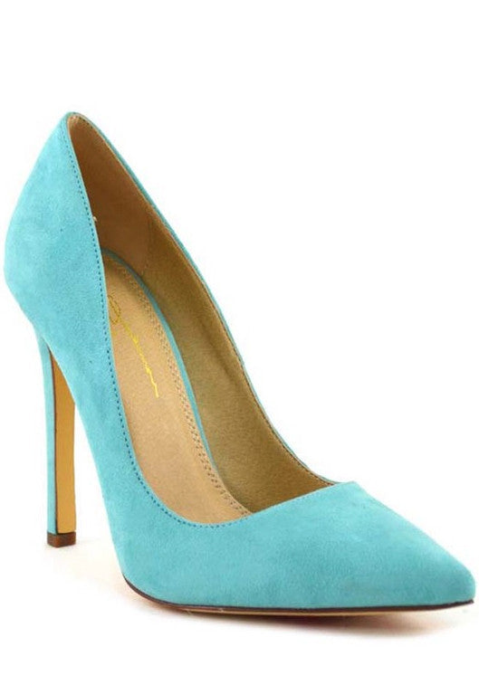 Fashion Aqua Pointy Heels