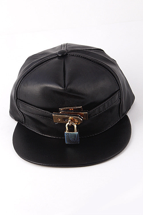 Key Lock Black Fashion Cap