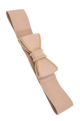 Fashion Beige Ribbon Pop Out Belt